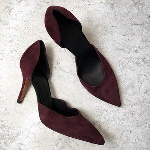 Vince burgundy heels